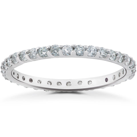 G-VS 7/8 ct Diamond Eternity Ring in 14k Rose, Yellow, White Gold & Platinum