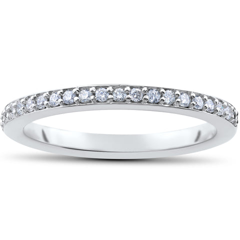F/VS .25ct Lab Created 100% Diamond Wedding Ring 14k Gold or Platinum