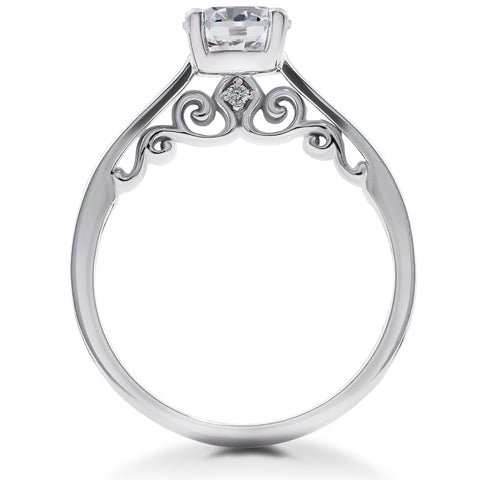 1 1/2 ct Lab Grown Eco Friendly Diamond Gabriella Engagement Ring 14k White Gold