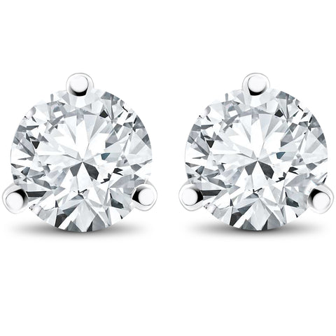 1 ct TDW Lab Grown Diamond Martni Studs 14k White, Yellow, Rose Gold or Plat