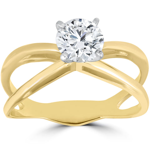 1 ct Solitaire Diamond Engagement Ring 14k Yellow Gold
