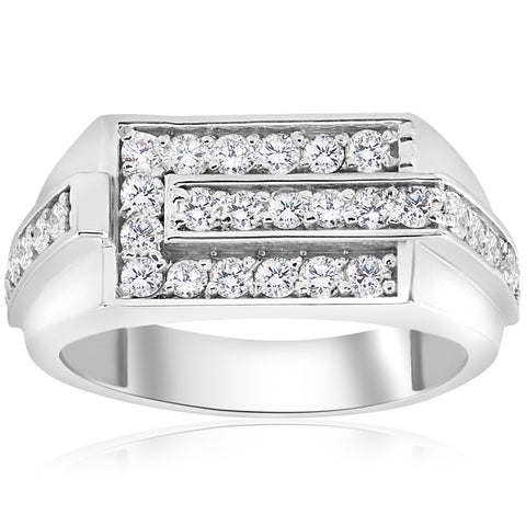 Men's Wedding Ring Band 0.80 Ct Round Cut Diamond Jewelry Solid White Gold New