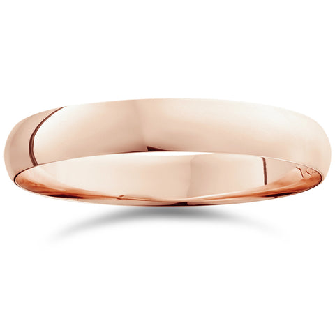 4mm Dome High Polished Wedding Band 10k Rose Gold