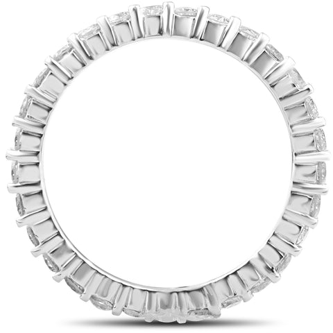3/4ct Diamond Eternity Wedding Ring 14k White Gold Stackable Band Lab Grown