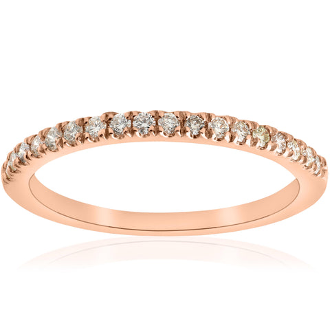.25ct Diamond Ring Stackable Engagement Womens Wedding Band 14k Rose Gold