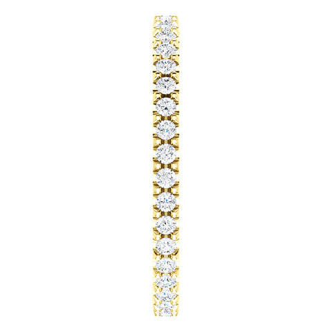 3/8ct Diamond Eternity Ring 14k Yellow Gold Womens Stackable Wedding Band