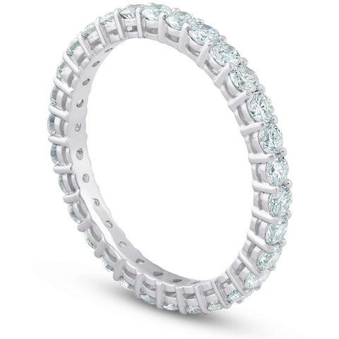 G/SI 1ct Diamond Eternity Ring 14k White Gold