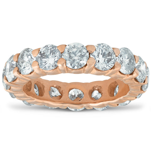 5 ct Diamond Eternity Ring 14k Rose Gold Womens Wedding Anniversary Band