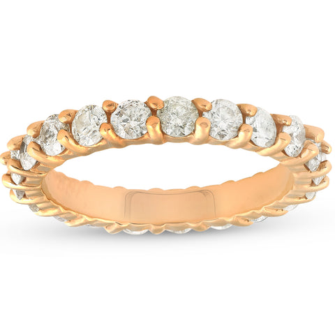 2ct Diamond Eternity Ring 14k Yellow Gold Womens Anniversary Band