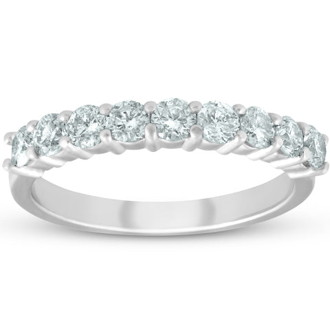 Platinum 1/2ct Diamond Wedding Ring Womens Half Eternity Ring