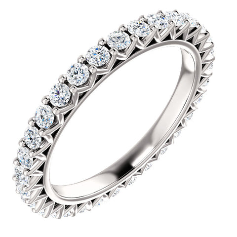 2 Ct Diamond Eternity Ring 14k White Gold Womens Stackable Wedding Band