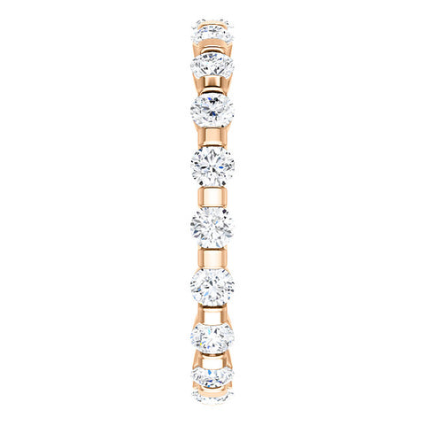1 Ct Diamond Bar Set Eternity Wedding Ring in 14k White, Yellow, or Rose Gold