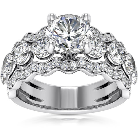 2.40 Ct Round Cut Diamond Engagement Ring 14k White Gold