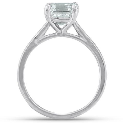 2 Ct Asscher Cut Diamond Solitaire Engagment Ring Platinum Enhanced