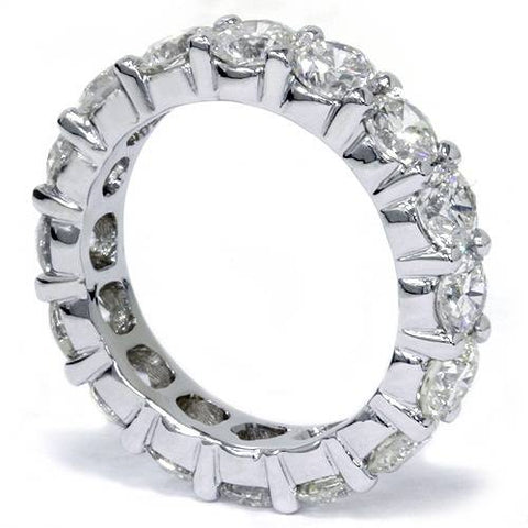 Unique Huge 5.00Ct Round Diamond Eternity Ring Wedding Band 14k White Gold