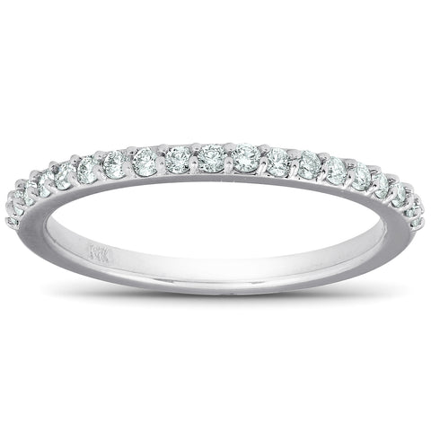 1/4Ct Diamond Ring Matching Engagement Band 14k White Gold