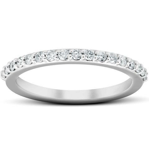 1/4Ct Diamond Ring Matching Guard Engagement Band 14k White Gold