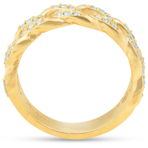 VS .54 Ct Diamond Mens Ring Solid 14k Yellow Gold 8.6 grams