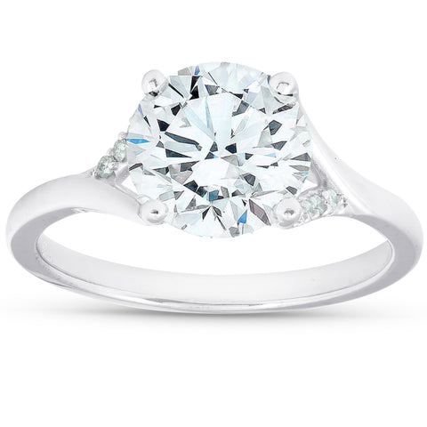 VS 2.50 Ct Diamond Engagement Ring 14k White Gold