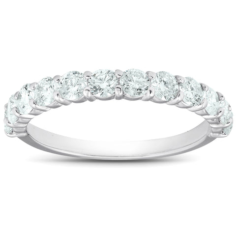 1Ct Diamond Wedding Ring Set 14k White Gold Stackable Engagement Bands