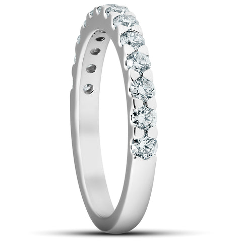 3/4Ct Diamond Wedding Womens Ring Anniversary Stackable Band 14k White Gold