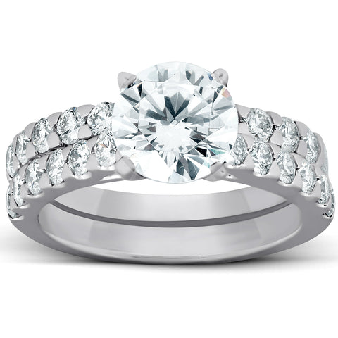 VS 3 1/4 Ct Diamond Engagement Ring 14k White Gold