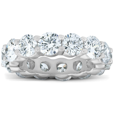 6 Ct Diamond Eternity Wedding Ring 14k White Gold