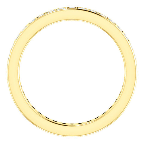 VS 1/2Ct Diamond Eternity Ring Womens Wedding Band 14k Yellow Gold EX3 Lab Grown