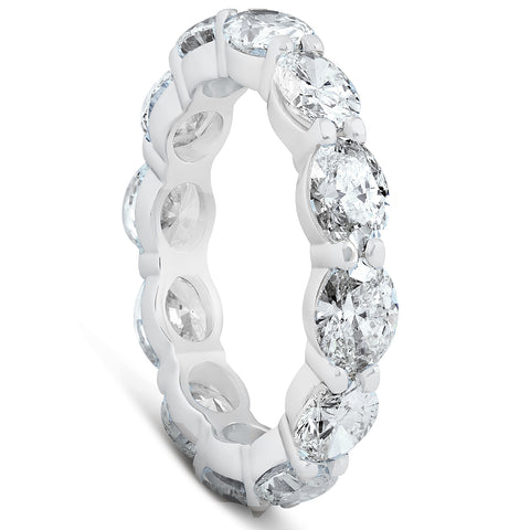 SI 4 3/4 Ct Oval Diamond Eternity Ring 14k White Gold