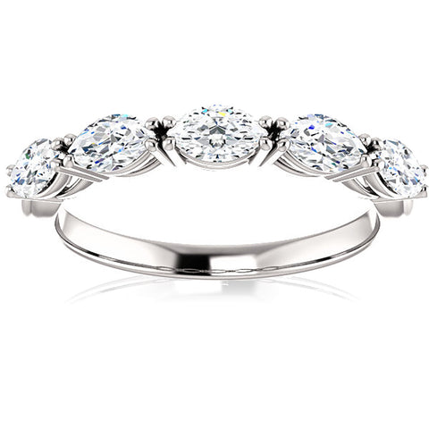 G/VS 1.50Ct Oval Moissanite Wedding Ring Available in White, Yellow or Rose Gold