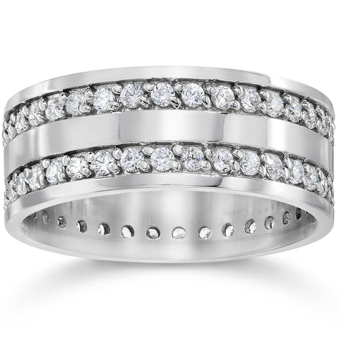1 1/2ct Diamond Eternity Wedding Anniversary Gold Ring