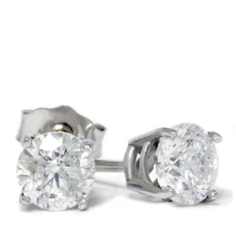1 1/2ct Diamond Studs 14K White Gold