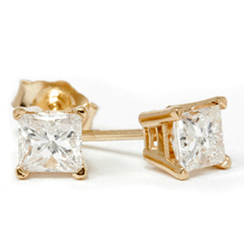 1/2ct Diamond Studs 14K Yellow Gold