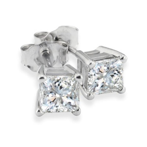 1 1/4ct Diamond Studs 14K White Gold