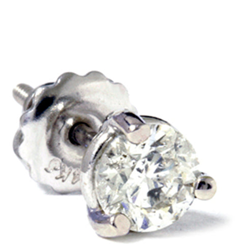 1/2ct Martini Diamond Stud 14K White Gold