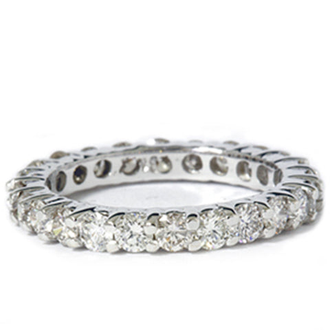 1 1/2ct Prong Eternity Ring 14K White Gold Diamond Wedding Ring Solitaire Cut
