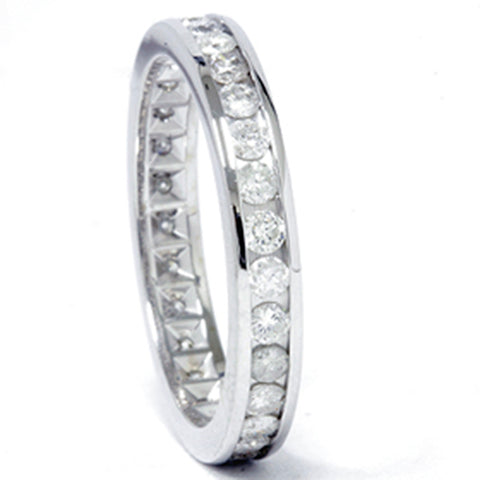 1ct Channel Set Diamond Eternity Ring 950 Platinum