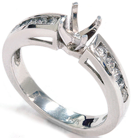 1/2ct 14k White Gold Diamond Engagement Mount Ring