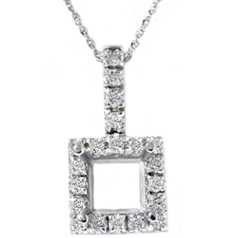 Women's 1/2ct Vintage Style Pave Diamond Solitaire Mount Setting