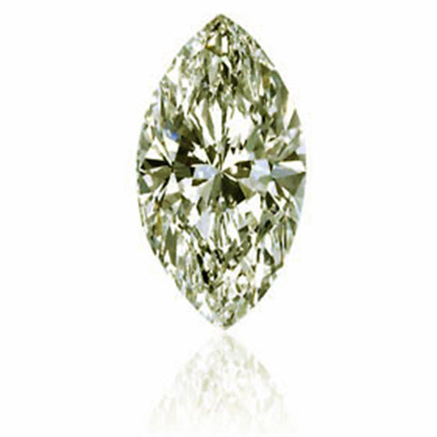 1ct Fancy Light Brown VS2 Marquise Cut EGL Certified