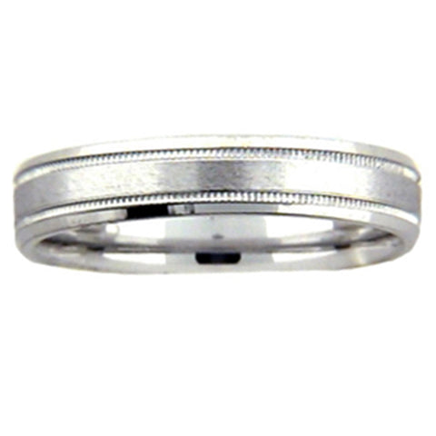 4mm 950 Platinum Comfort Fit Wedding Band