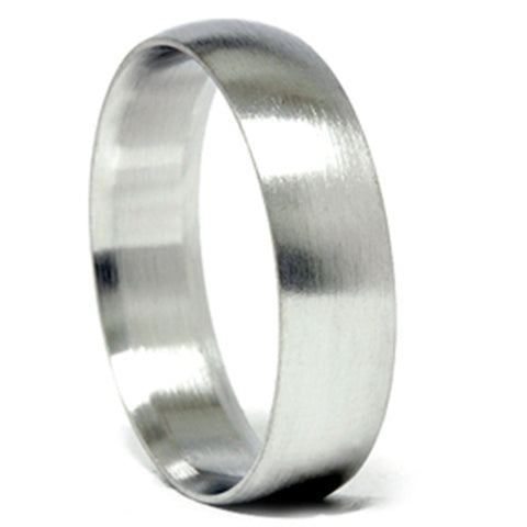 Mens Solid 14k White Gold 6mm Designer Chad Ra Wedding Band Ring