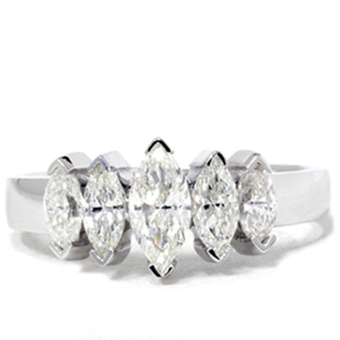 1 1/2ct Marquise Diamond Wedding Anniversary 14K