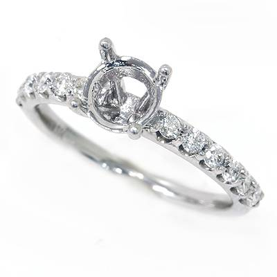 1/3ct VS Diamond Engagement Semi Mount Ring White Gold Engagement Ships in 1 day