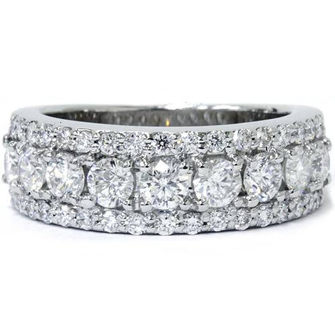 VS 1 3/4ct Diamond Wedding Ring 14K White Gold