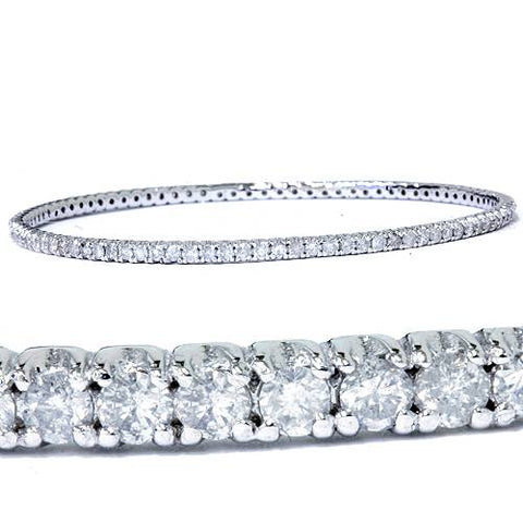 3 1/3ct 14K White Gold Bangle Diamond Bracelet