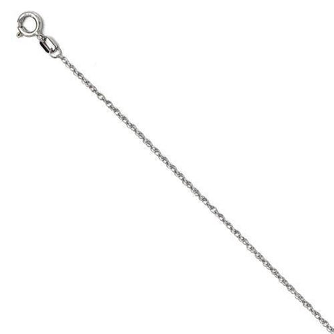 1/10Ct Diamond Solitaire Knot Pendant 10k White Gold Womens Necklace