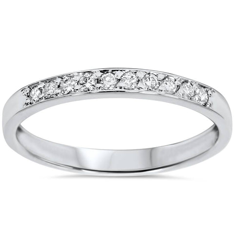 1/4ct Diamond Wedding Ring 14K White Gold