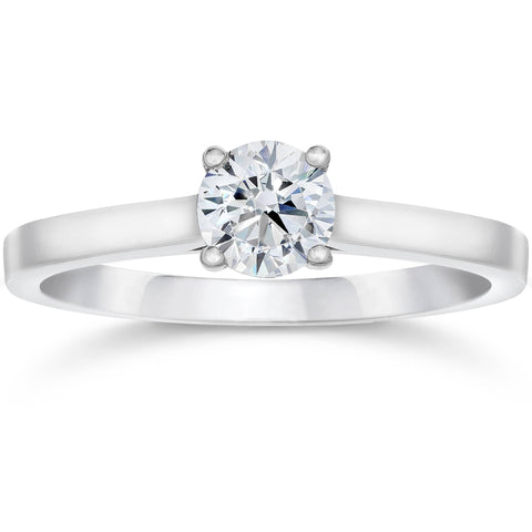5/8ct Round Solitaire Diamond Engagement Ring 14 White Gold With Accents Jewelry