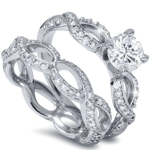 SI 1 5 8ct 7 Center Stone Infinity Eternity Engagement Wedding